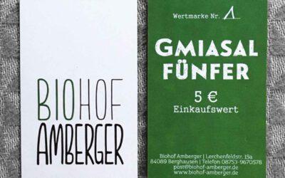 """Jetzt auch Gutscheine: """"Gmiasal Fünfer"""""""